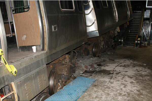 CTA Blue Line Train Derailment at Ohare