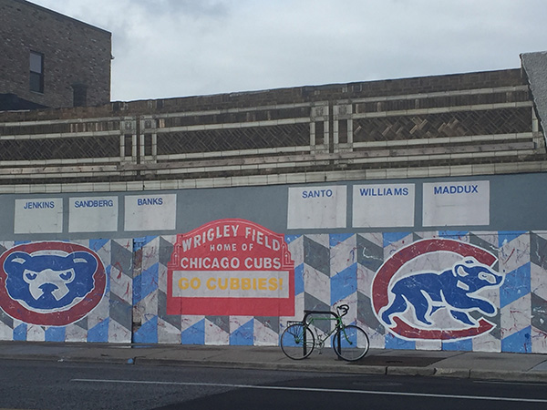 Cubs Mural installed across from Jefferson Park CTA Terminal