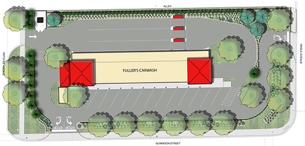 Fullers Car Wash Rendering for former Elliots site