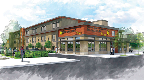 Rendering of Memory Care Center proposed for 3600 block of Central