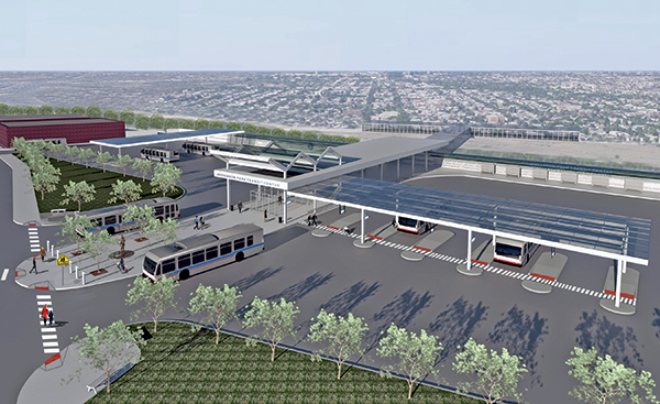 Jeff Park CTA Terminal Renovations Rendering