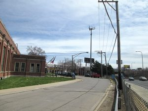 Location near Mayfair Pumping Station where digital billboard will go