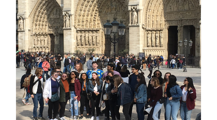 Taft High School Students visit Notre Dame Cathedral hours before fire